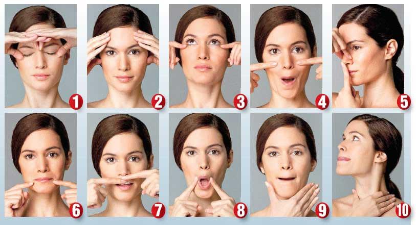 facial steps